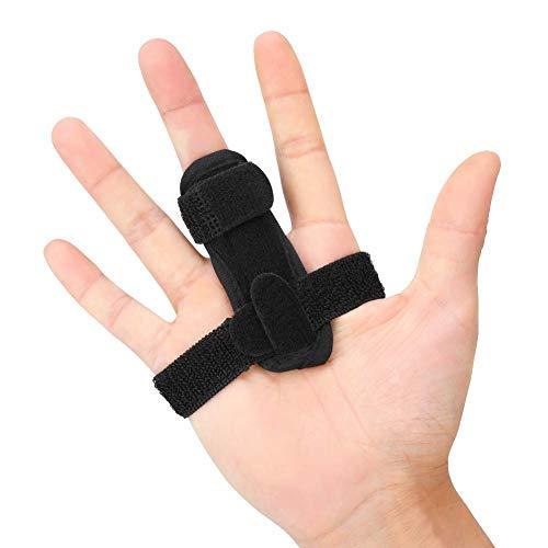 PINCOU Trigger-Fingerschienen für gebrochene Finger, Fingerstütze, Arthritis für Schläger, kleine/kleine Finger, verstellbare Handbandagen zum Glätten gebogener und gebogener Tenosynovitis -
