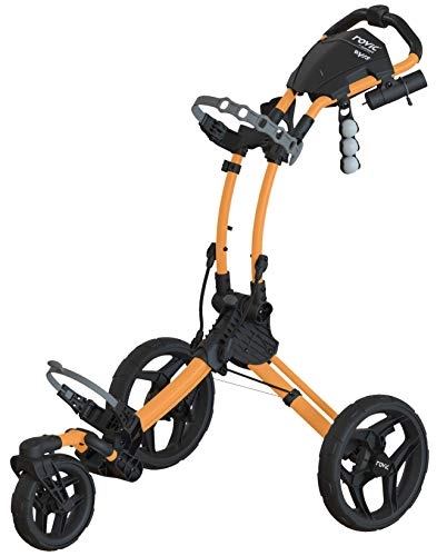 Rovic Model RV1S Drehbarer Golftrolley mit 3 Rädern, CGRV1S-PEACH, pfirsich - Mountain Sun Push Cart Golf Von
