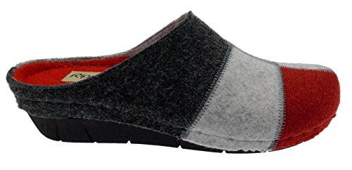 ciabatta grigio ghiaccio bordeaux patchwork panno art 2451 39 grigio