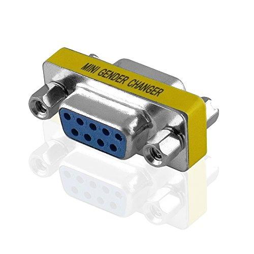 BestPlug D-SUB 9pol Adapter Verbindungsstück / D-SUB Buchse Kupplung weiblich auf D-SUB Buchse Kupplung weiblich / Metallausführung D-sub Tv