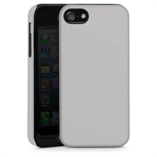 Apple iPhone 5s Housse étui coque protection Graphite Gris Gris Cas Tough brillant