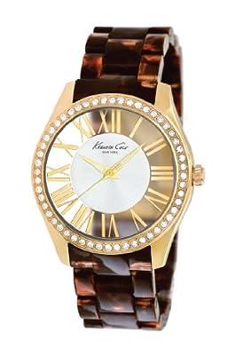 Kenneth Cole IKC4861 - Reloj para mujer con correa de policarbonato, color dorado / gris de Kenneth Cole