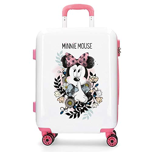 Disney Style Equipaje Infantil, 55 cm, 38 litros, Blanco
