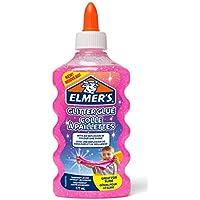ELMER'S Colla Glitterata, Lavabile e Adatta ai Bambini, Ottima per Realizzare Slime, 177 ml, Rosa