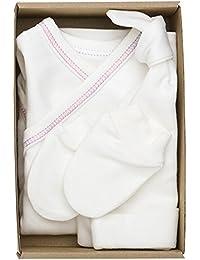The Dida World Nones - Pack nacimiento con 1 bodi kimono, guantes y gorro,