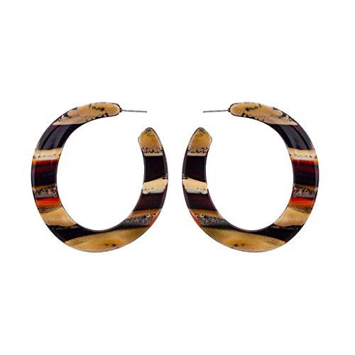 Quaan Persönlichkeit kreative Acetat Platte Geometrie halbe Ring Ohrringe Damen Schmuck