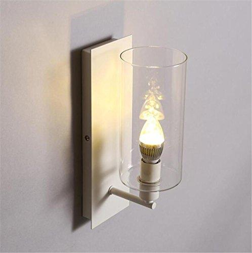 KDLD Wandleuchten ® Modern Reading Wandleuchter Schlafzimmer Bedside Flur Treppe Glas Lampe Schattierungen Kerze -