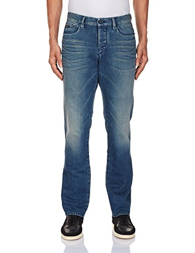 Calvin Klein Men's Straight Fit Jeans (701549765558_J303173_36W x 32L_Blue)  available at amazon for Rs.10199