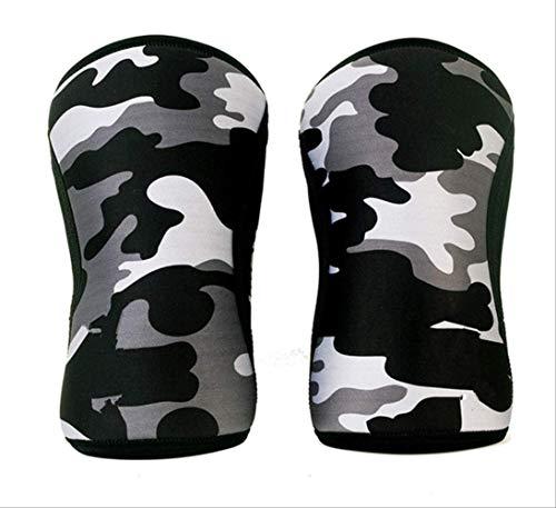 Kniebandage, 7 mm, für Training und Laufen, Schmerzlinderung, Arthritis, Kniebandage, Größe XL, Hellgrau