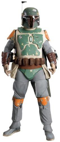 Rubie 's Offizielle Star Wars Supreme Edition Boba Fett-Kostüm für Erwachsene–Standard