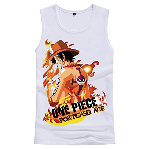 Cosstars One Piece Monkey D Luffy Anime Tank Top Cosplay Kostüm Pullover Weste Ärmellose T-Shirt 10 - Tony Chopper Kostüm