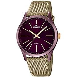 Lotus 18167/2 - Reloj de pulsera hombre, color Beige