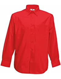 Amazon.co.uk: Red - Shirts / Men: Clothing