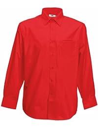 Chemise à manches longues en popeline Fruit Of The Loom pour homme