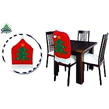 Maxi cappello babbo natale copri sedia natalizio coprisedia con albero