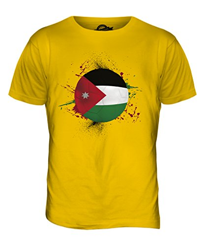 CandyMix Jordanien Fußball Herren T Shirt Dunkelgelb