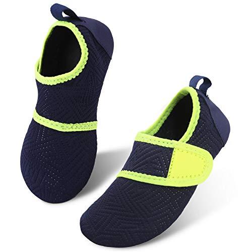 JIASUQI Kinder Jungen Mädchen Sommer Quick Dry Wasser Schuhe für Strand Schwimmen Einfach Marine, 24/25 EU