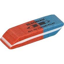 DANUBIO 7302001pl 99 Eraser/Gomma da cancellare, universale, 40 X 14 X 8 mm, Blu/Rosso