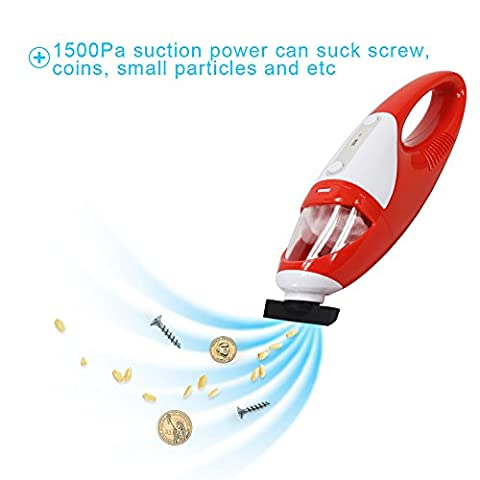 Handheld Vacuum Hoover Portable Mini VAC Cleaning Dustbuster Cordless Cleaner Powerful Suction for Pet Hair fur, Car and More -