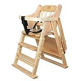 Kindersitz, Hochstuhl aus massivem Holz, Kinderwagen, Baby-Essstuhl, faltbar (Farbe : B)