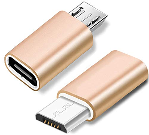 LUCKLYSTAR USB-D-Adapter, USB-Adapter Typ C auf Micro-USB-Stecker-Konverter USB-Adapter Typ C-Buchse Daten-Sync-Adapter Typ C