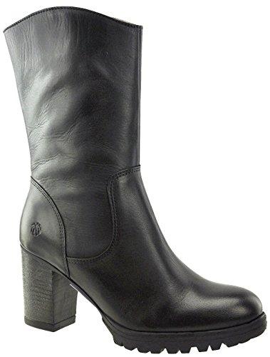 JJ Footwear Damen Stiefeletten Leder Brotton Normal Schwarz Nappa