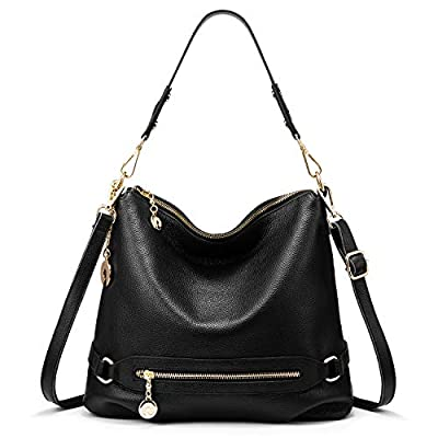 Real Leather Handbags for Women Large Handbag Hobo Bag Ladies Handbag Shoulder Handbag with Multiple Pockets