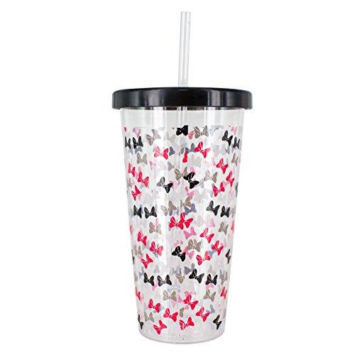 Minnie Maus Tasse und Stroh, Mehrfarbig, 10x 10x 18cm