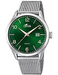9c4d97096ace Lotus Reloj Analógico para Hombre de Cuarzo con Correa en Acero Inoxidable  18631 2