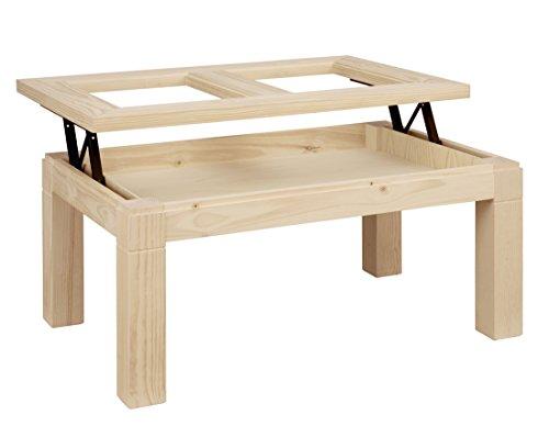 ojemar international Table Basse Tokyo t. Verre relevable 110 x 70 cm.