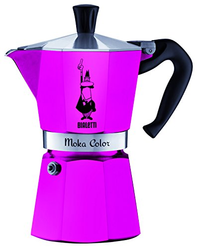 Bialetti Moka Express Color 0.3L Rosa - cafeteras