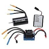 F Fityle 4076 2000kv Bürstenloser Motor + 120A Esc Speed Controller + LED Programmier Karte Zubehör für 1:8 Rc Auto