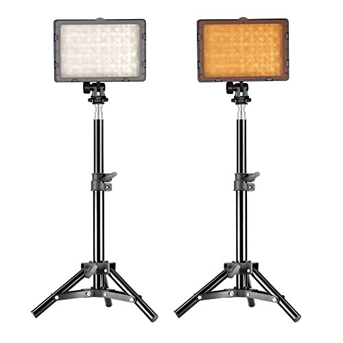 Neewer 90080739 Fotografie CN-160 LED-Videostudio-Licht-Kit Digital Still Camera Kit