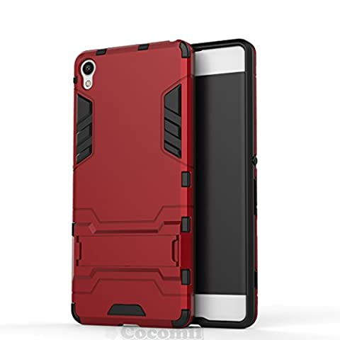 Sony Xperia XA Coque, Cocomii Iron Man Armor NEW [Heavy Duty] Premium Tactical Grip Kickstand Shockproof Hard Bumper Shell [Military Defender] Full Body Dual Layer Rugged Cover Case Étui Housse (Red)