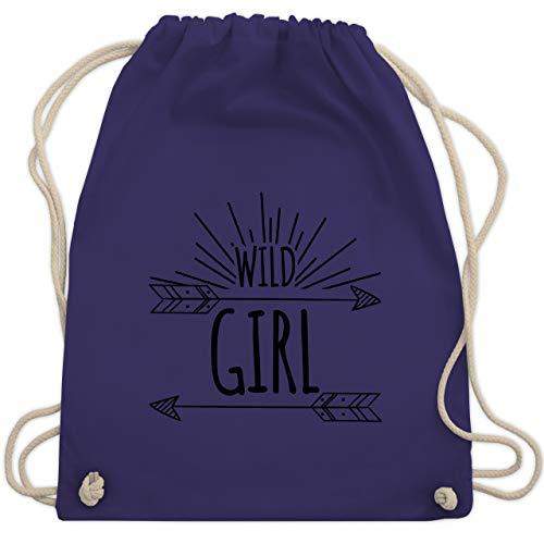 Up to Date Kind - Wild Girl - Unisize - Lila - WM110 - Turnbeutel & Gym Bag
