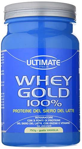 Ultimate italia wgv750 whey gold 100% proteine del siero del latte - 750 gr