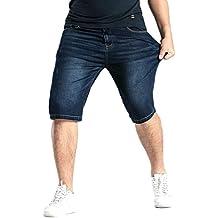 Heheja Hombre Jeans Moda Elasticidad Pantalones Cortos de Mezclilla Ocio Denim Shorts