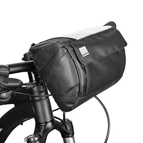 Docooler Fahrrad Lenkertasche multifunktional mit Transparentem PVC-Sichtfenster (15 * 12.2 cm) für Handy, Total 3L, wasserdichtes Material, 20 * 10.5 * 16cm (Farbe 2)