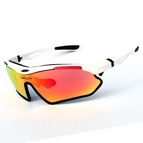 HCMAX Polarisierter Sport Sonnenbrille für Baseball Skifahren Golf Laufen Radsport Angeln Reiten Fahren mit Unzerbrechlich Rahmen