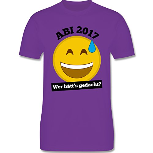 Abi & Abschluss - Abi 2017 - Wer hätt's gedacht? - Herren Premium T-Shirt Lila