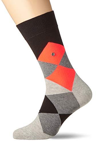Burlington Herren Neon Clyde SO Socken, Mehrfarbig (Black 3000), 40/46 (Herstellergröße: 40-46) (Herren-socken Kariertes)