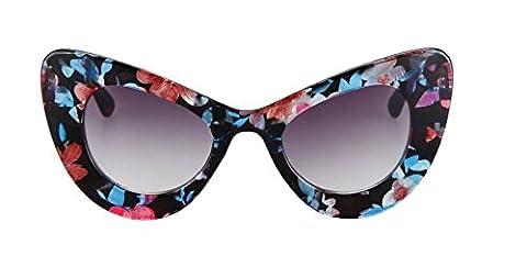 LLL -Lunettes de soleil UV protection lunettes de soleil/cat eye fashion de papillon , c5 flower glass