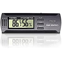 Inkbird Dc 3V Input Digital Hygrometer Thermometer Temperature and Humidity Meter for CIGAR HUMIDOR Box, ℃/ ℉ Display