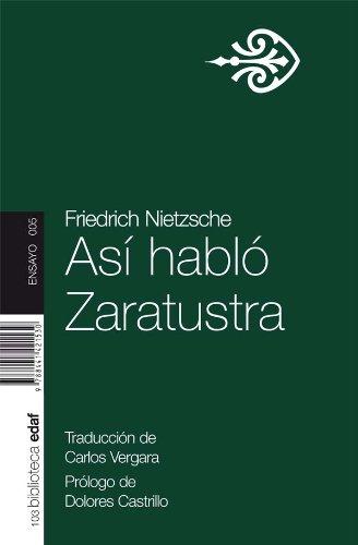 ASI HABLO ZARATUSTRA. (Nueva Biblioteca EDAF) por FRIEDRICH NIETZSCHE