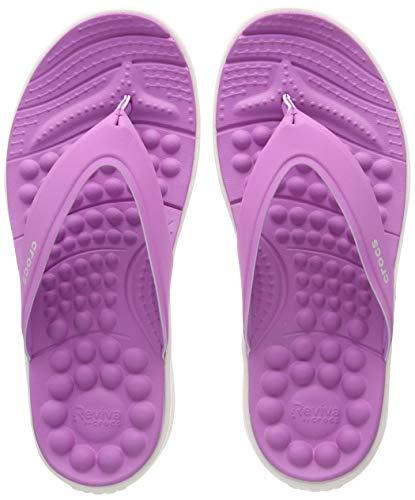 Crocs Reviva Flip W, Infradito Donna, Viola (Violet/White 592), 42/43 EU