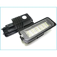 Kit Luci Targa Led VW Golf 4 Golf 5 Golf 6 Golf 7 EOS 06 Lupo New Beetle 06 Passat CC 2009 Polo 2000 Phaeton 2002 18 Smd Bianco