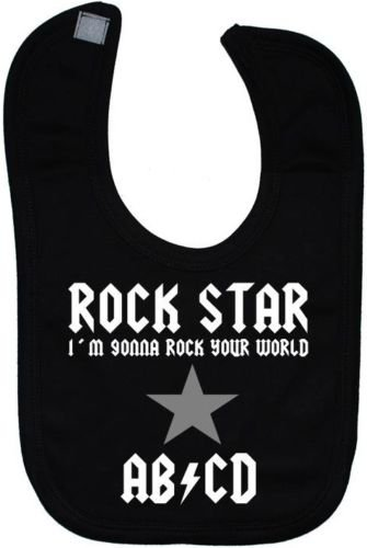 Rock Star (I'm Gonna Rock Your World) AB/CD Bavoir Velcro Attaché 0 à environ 3 ans