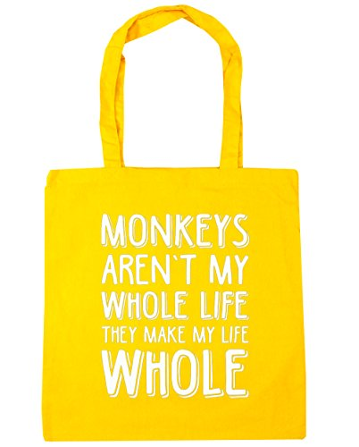 hippowarehouse-todo-monos-no-son-mi-vida-hacen-toda-mi-vida-tote-compras-bolsa-de-playa-42-cm-x38-cm