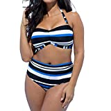Innerternet Damen Sommer Tankini Sets Elegant Mit Jungen Shorts Tief V-Ausschnitt Bikini Set Bademode Hoher Taille Push-Up lose Casual R/öckchen Gro/ße Gr/ö/ßen Two Piece Tankini Set Schwarz