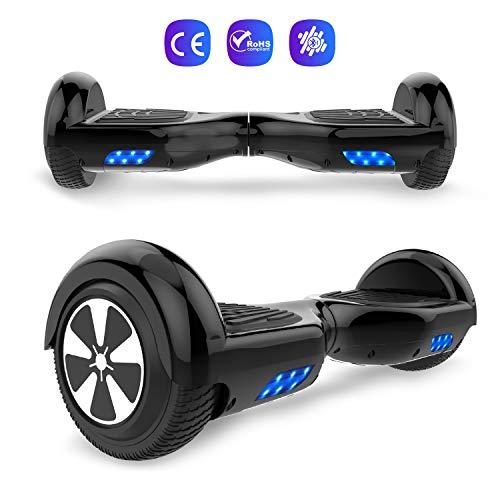 GEEKME Hoverboard 6,5 Zoll Self Balance Scooter UL2272 Sicherheit zertifiziert Eingebaute LED-Leuchten Bluetooth-Lautsprecher